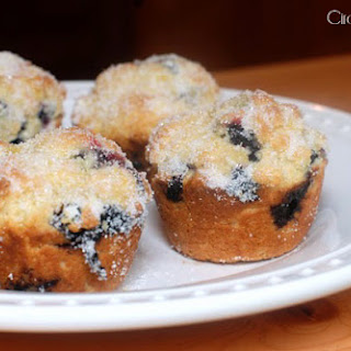 Lemon Muffins with Blueberries.