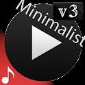 Poweramp v3 skin minimalist dark icon