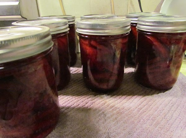 Fill the jars with beets leaving ½-inch head-space. Pack the jars fairly tightly, but...