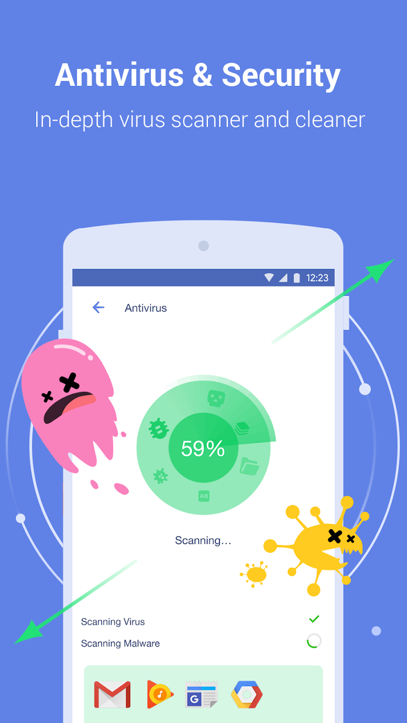 Power Clean - Antivirus & Phone Cleaner App Screenshot 1