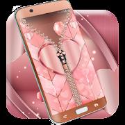Rose gold lock screen zipper