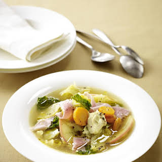 Ham and Apple Soup with Sour Cream.