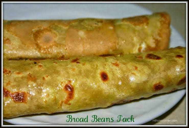Stuffed avaraikkai chapathi recipe