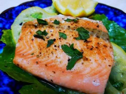 """Lemon Pepper Salmon in Foil """"This recipe is fabulous. I love fresh..."""