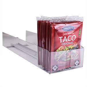 Pushertråg för Taco-Kryddmix samt Pålägg tunna skivor