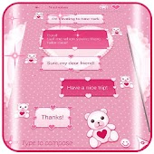 Pink SMS Themes