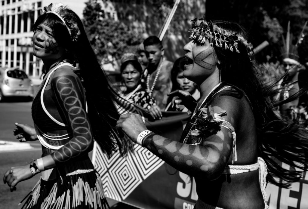 Marcha das mulheres indígenas em Brasília
