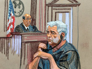 Photo: Court sketch by Christine Cornell of former fugitive Luis Pena Soltren at 500 Pearl Street federal court today October 14, 2009 on charges of a 1968 plane hijacking plot.   Original Filename: _MG_6986.JPG