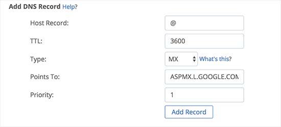 Thêm bản ghi MX vào tên miền của bạn