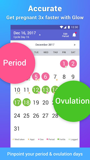 Best Ovulation Tracker Fertility Calendar App Glow screenshot