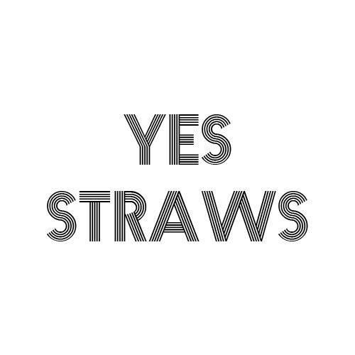 Design de logo de YesStraws, un de nos exemples de marques éco-responsables
