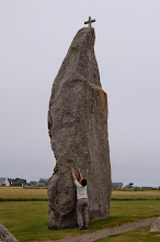 Photo: BRETANYA 2013. .BRIGNOGAN, menhir de Men Marz