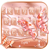 Silk Rose Gold Keyboard Theme Android APK Download Free By Super Hero Theme Designs