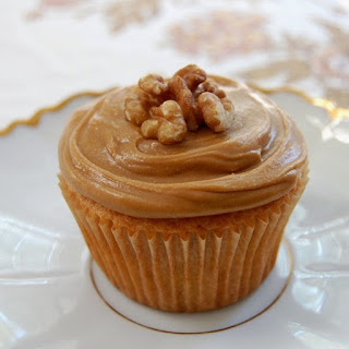 Oven Baked Coffee and Walnut Cupcakes