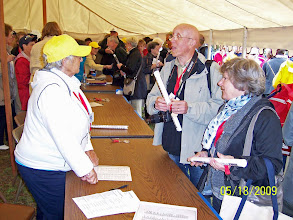 Photo: Daniel and Marguerite Geneste get registered - International meeting of Beaufort Sister Cities 2009