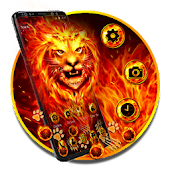 Burning Fire Lion Gravity Theme
