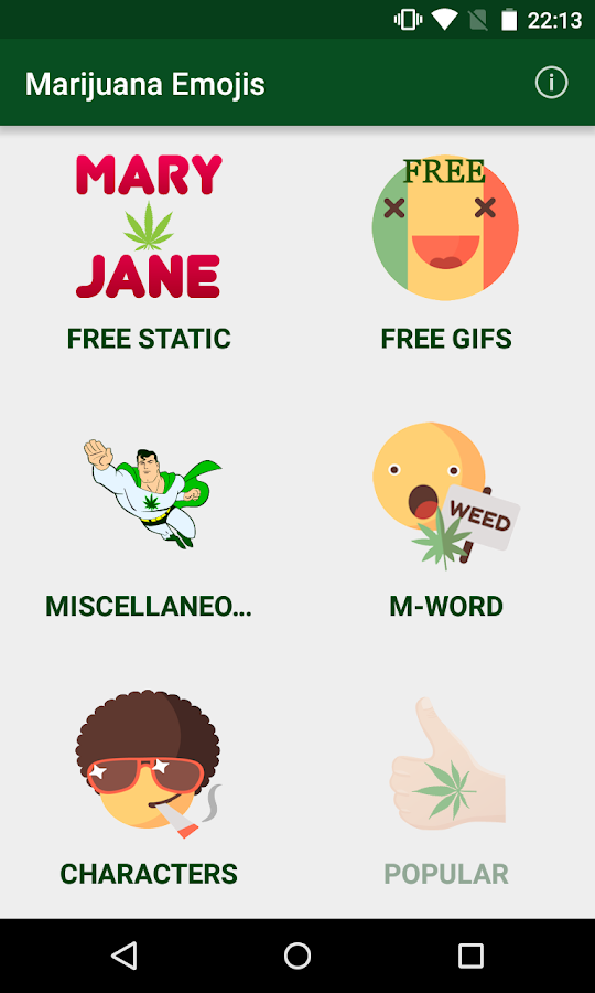 Marijuana Emojis- screenshot