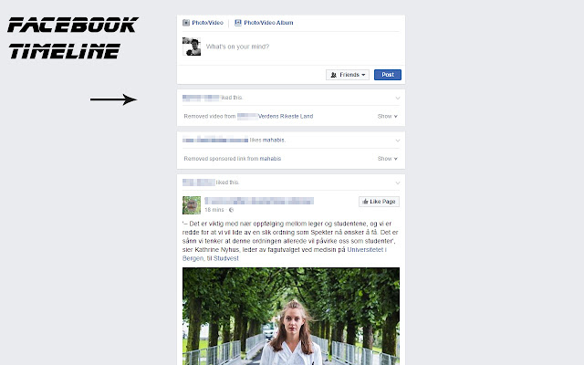 Hide crap on Facebook - Adblock