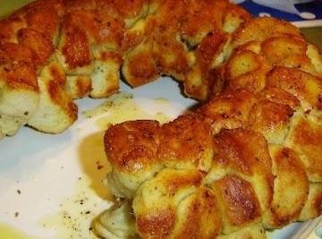 Yummy Cheesy Garlic & Chilis Pull-a-part Bread Recipe