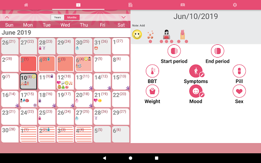 WomanLog Calendar  screenshot 10