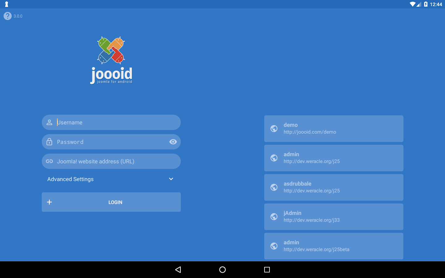 Joooid! Joomla for Android- screenshot