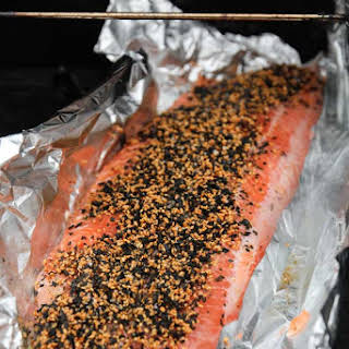 How to BBQ Salmon, Pickled Ginger and Sesame.