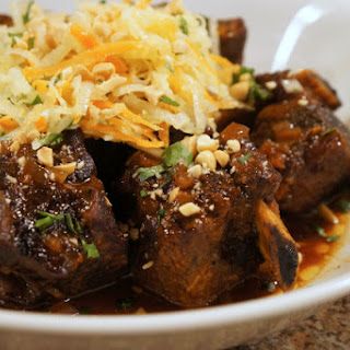 Asian Style Short Ribs with Daikon Salad