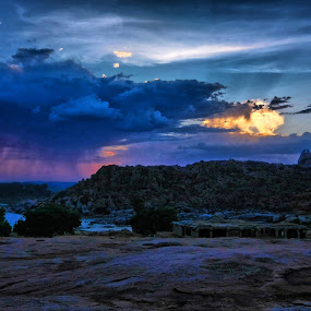 Hampi by Narayna Gopi - Landscapes Cloud Formations