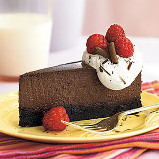 Raspberry-Chocolate Truffle Cheesecake.