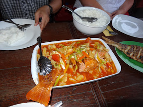 Photo: When Naomi & Ilived in Banda Aceh for 6 month back in 2006-2007 helping with Tsunami relief work with CAM...we learned to love this Indonesian dish of sweet & sour fish. How wonderful it was to enjoy this dish once again.