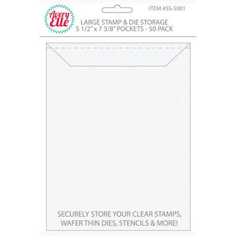 Avery Elle Stamp & Die Storage Pockets 50/Pkg - Large