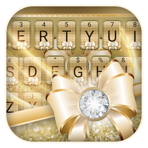 Luxury Bow Theme Keyboard