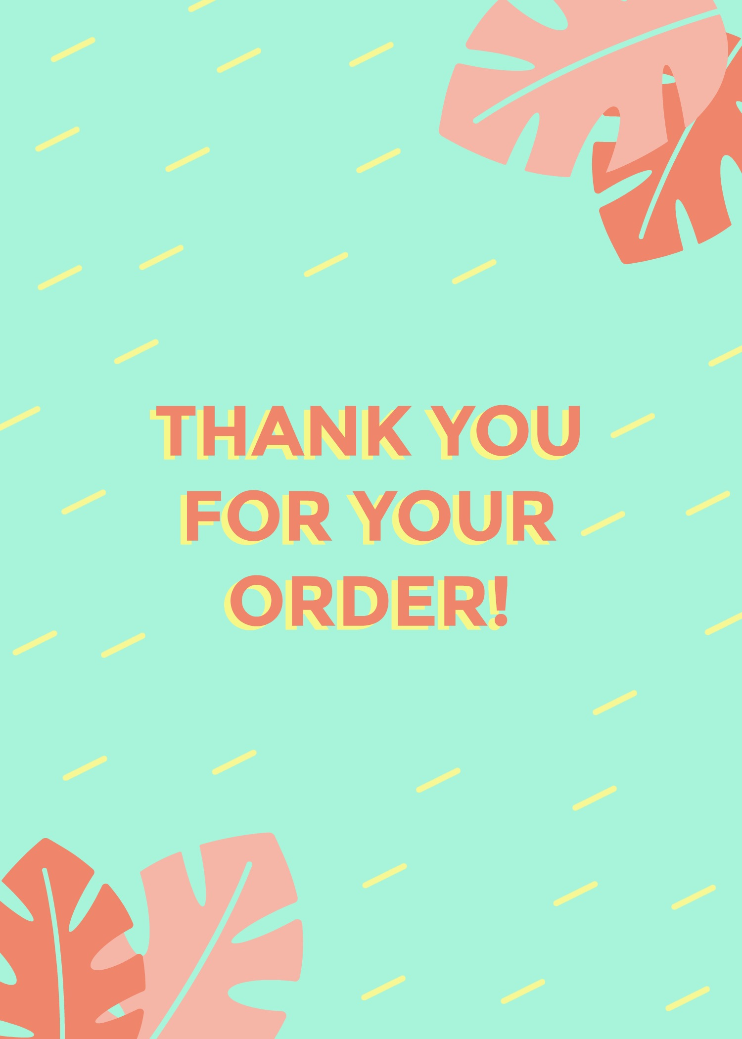 Thank You For Your Order >> Thank You For Your Order Picmonkey