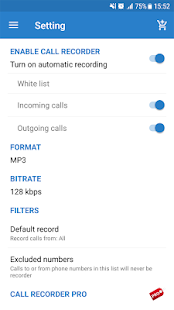 Auto call recorder Screenshot