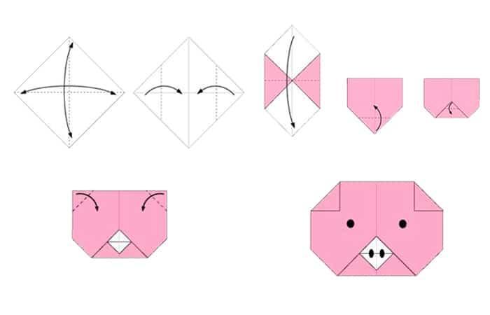 Cerdito de origami