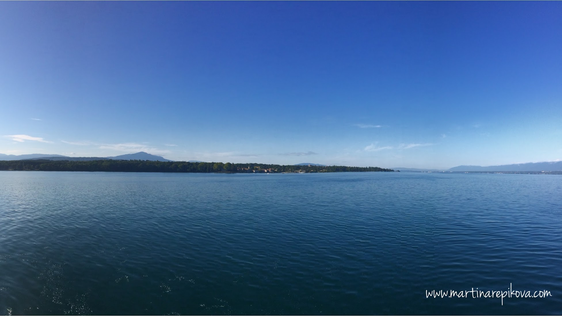 Swiss shore of Lac Leman during the day