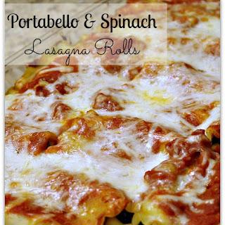 Portobello & Spinach Lasagna Roll Ups