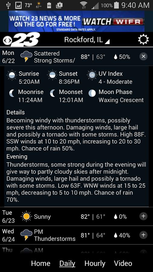 WIFR Weather - screenshot