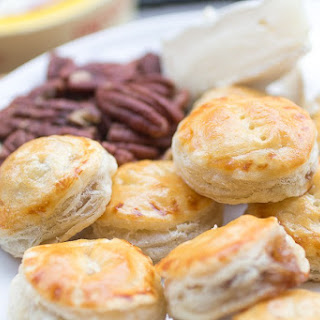 Praline and Brie Puff Pastry Bites.