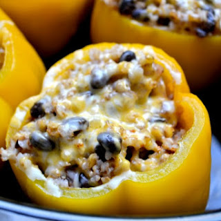 Vegetarian Stuffed Peppers Rice Cheese Recipes