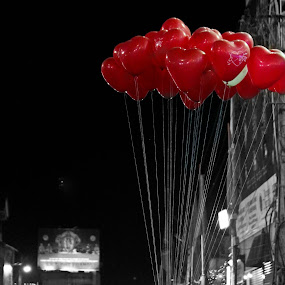 Love is in the air by Deepak Prabhu - City,  Street & Park  Street Scenes ( pwcredscapes )