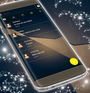 Elegant Dark SMS Theme - náhled