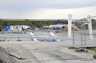 Photo: Blick auf den Abladeplatz unterhalb der A8