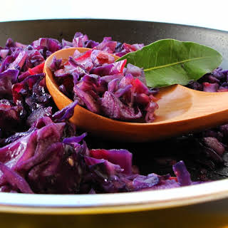 Sauteed Red Cabbage.