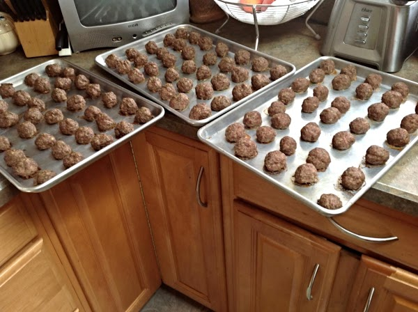 Add pre frozen meat Balls to sauce or my homemade version using this Link...