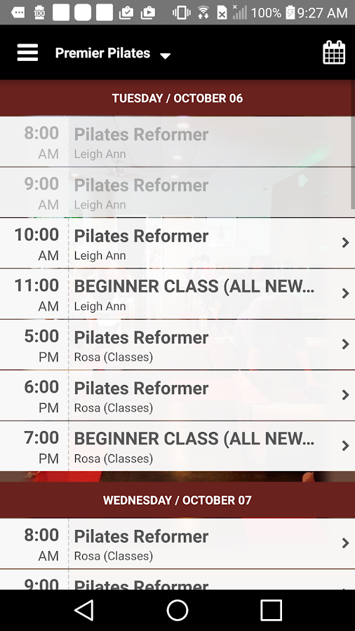Premier Pilates- screenshot