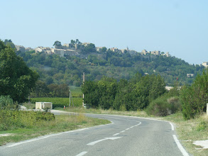 Photo: Now in sight is the hilltop village of Ménerbes.