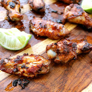 Adobo-smothered Chicken Wings.