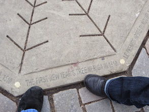 Photo: The first decorated Christmas tree was on this spot (they meant Xmas, not New Year's)