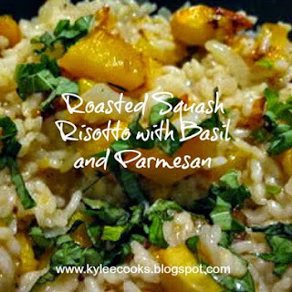 Roasted Squash Risotto with Basil and Parmesan
